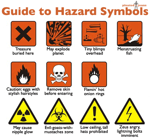 guide to hazard symbols pleated jeans