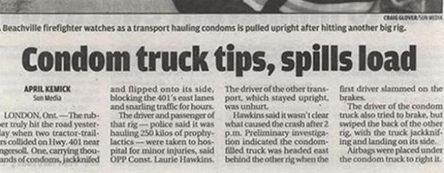 News Headlines Picture: 20 Funny Newspaper Headlines