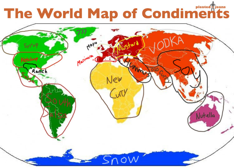 World Map of Condiments | Pleated Jeans