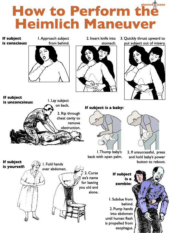 How to Perform the Heimlich Maneuver on Yourself