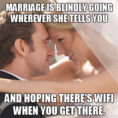 The bride must be joking