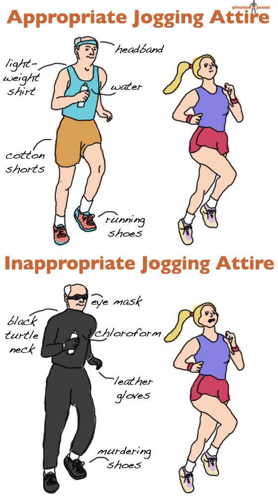 Appropriate Jogging Attire