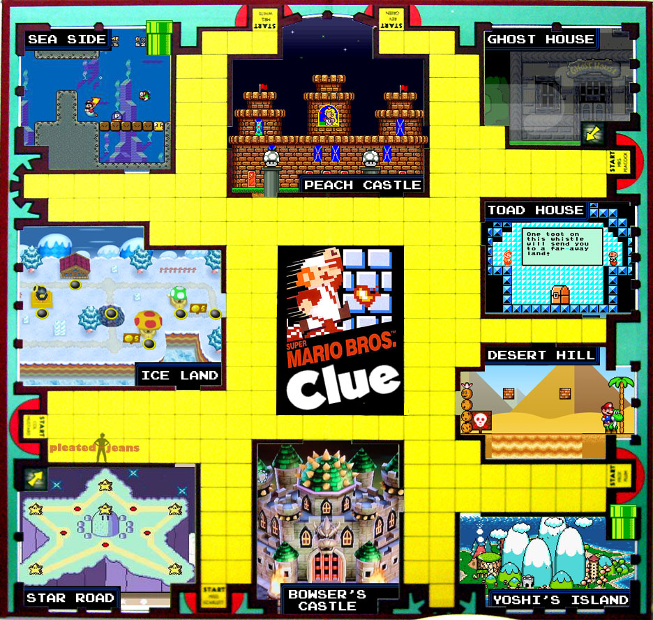 photo regarding Clue Game Board Printable titled Tremendous Mario Clue Board Video game