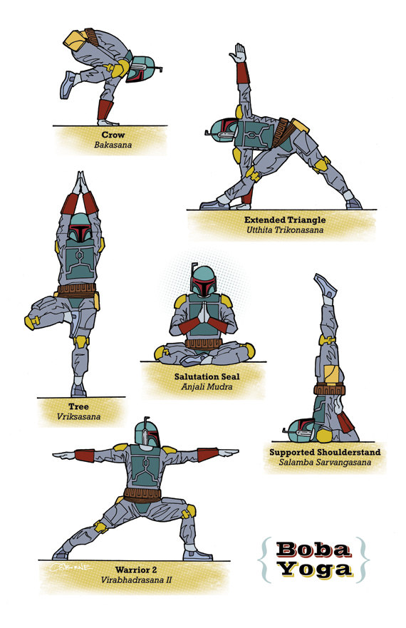 Star Wars Yoga Poses 6 Pics