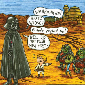 Darth Vader and Son by Jeffrey Brown (1)