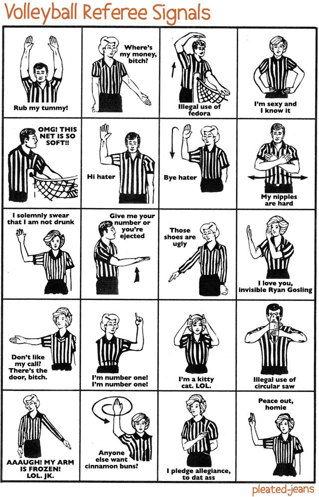 Volleyball Referee Signals – Pleated-Jeans.com