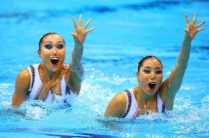 Faces of Synchronized Swimming (4)