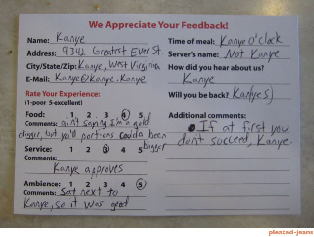 13 Hilarious And Sassy Examples Of Customer Feedback – Customer Comment Card Template