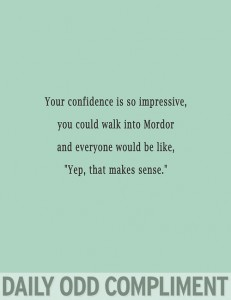 Daily Odd Compliment (17)
