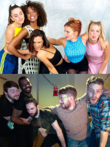Guys Posing as the Spice Girls