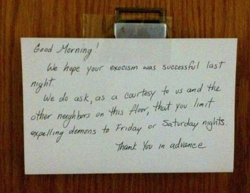 20 Angry Notes From Neighbors