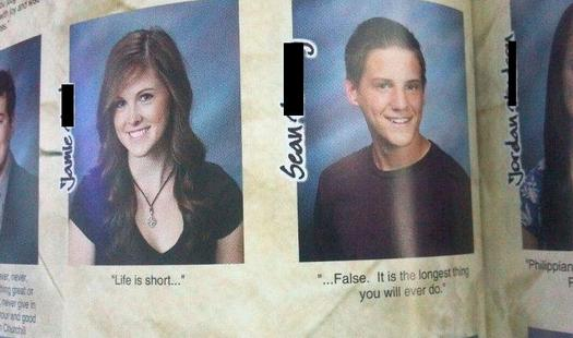 24 funny yearbook quotes pleated