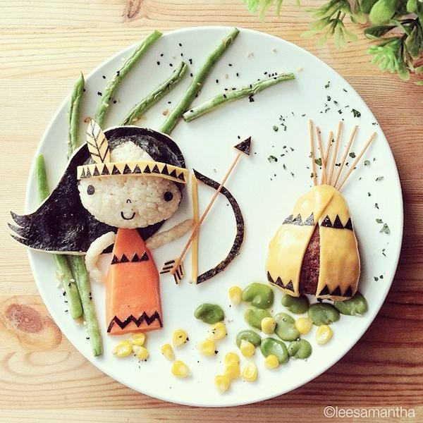 Adorable food art by samantha lee 16 pics pleated jeans for Decoration cuisine kawaii