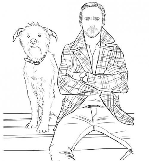 the ryan gosling coloring book  8 pics