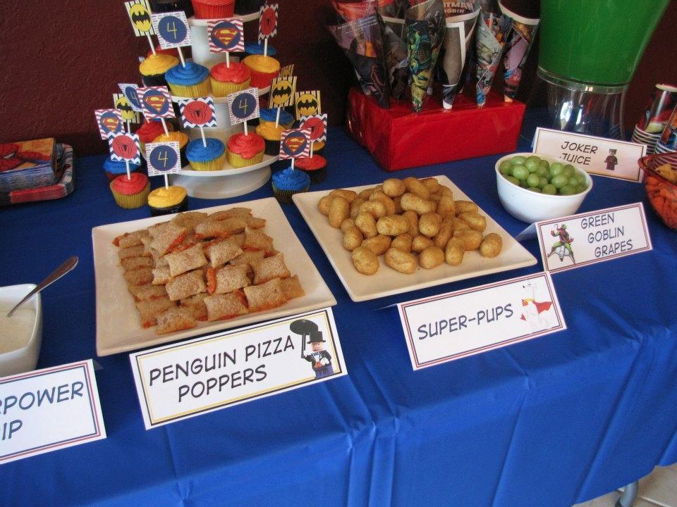 Superhero Party Food Menu