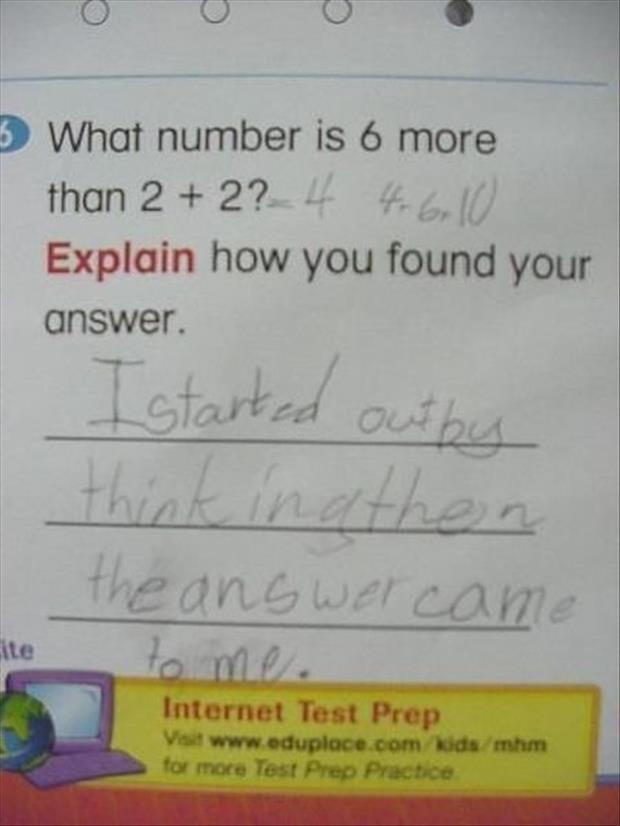 funny homework answers