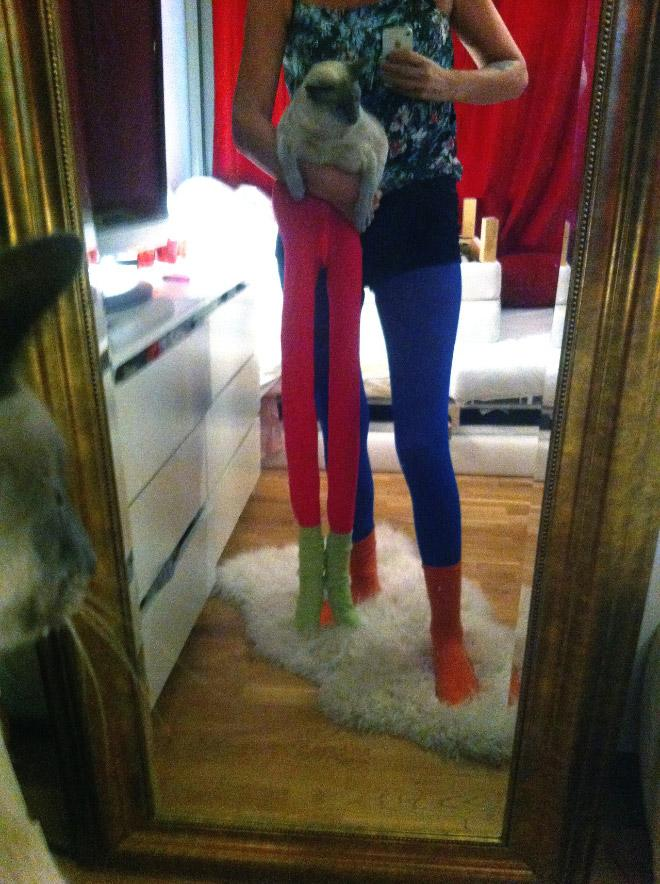 Cats Wearing Tights 14 Pics Pleated Jeans