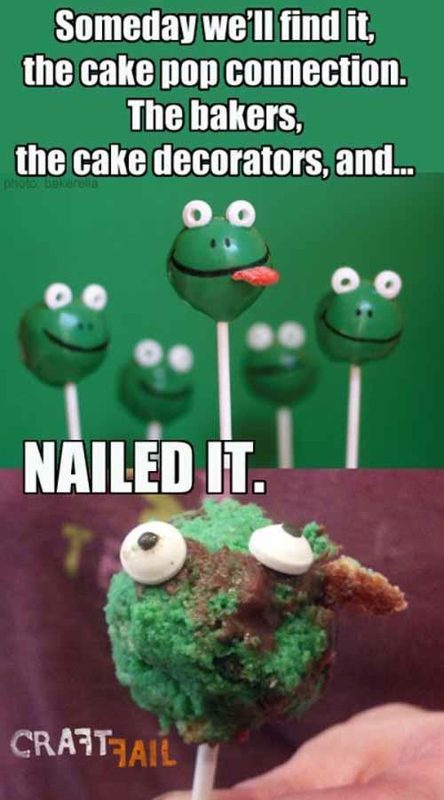 Cake Pop Fails