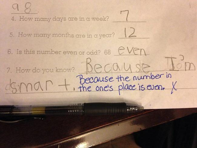 21 Funny Test Answers | Pleated Jeans