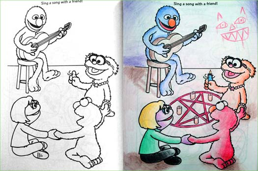 The Website Coloring Book Corruptions Is Still Cranking Out Twisted Childrens Art Lets Check In On Some Of Newer Entries