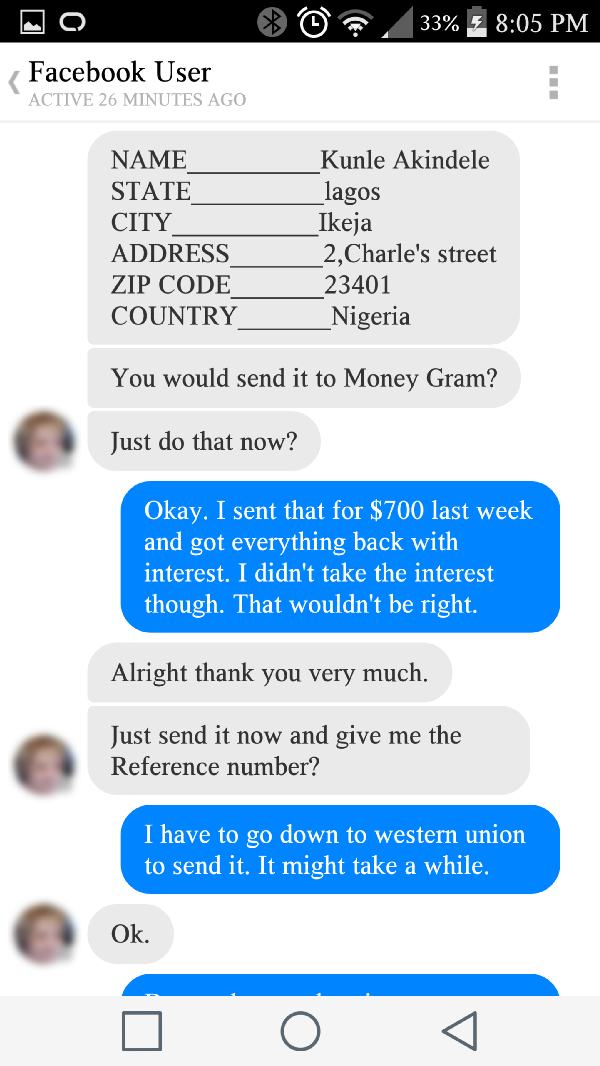 Guy Has Afternoon of Fun at Nigerian Scammer's Expense