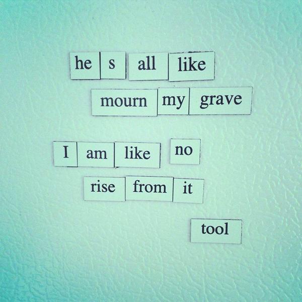 Image result for fridge poetry