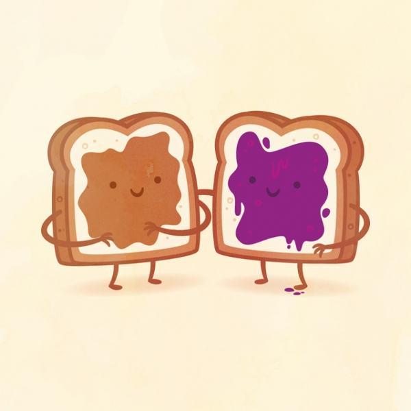'Taste Buds' Illustrated Series Pairs Up Foods as Best Friends