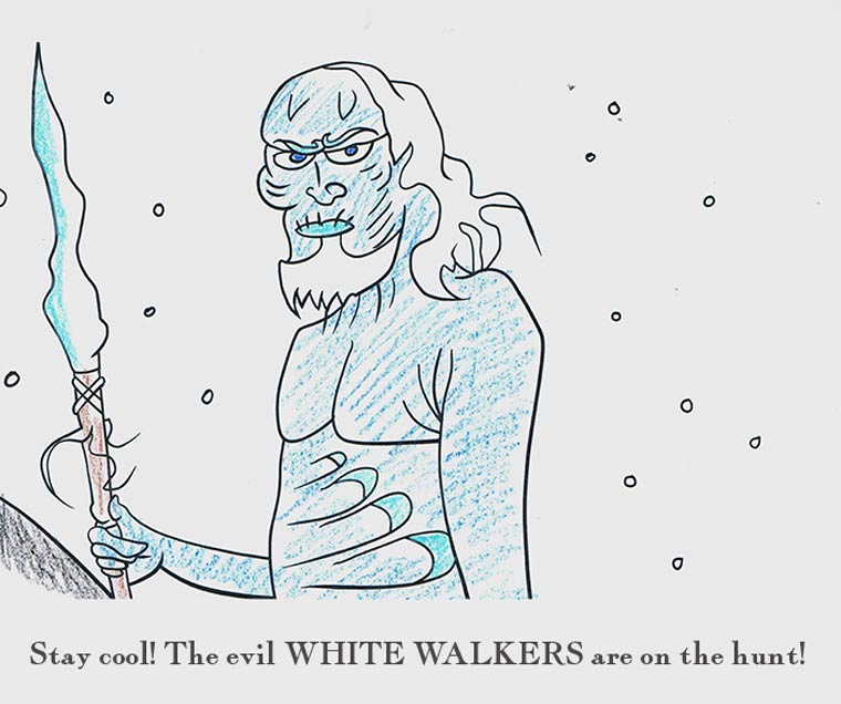Game Of Thrones Coloring Book Will Be Released In October Unwilling To Wait That Long Barnes And Noble Asked Artist Grant Lindahl Show Us A Mock