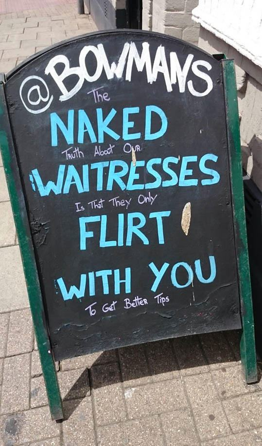 20 Funny Signs Spotted in the Wild | Pleated Jeans