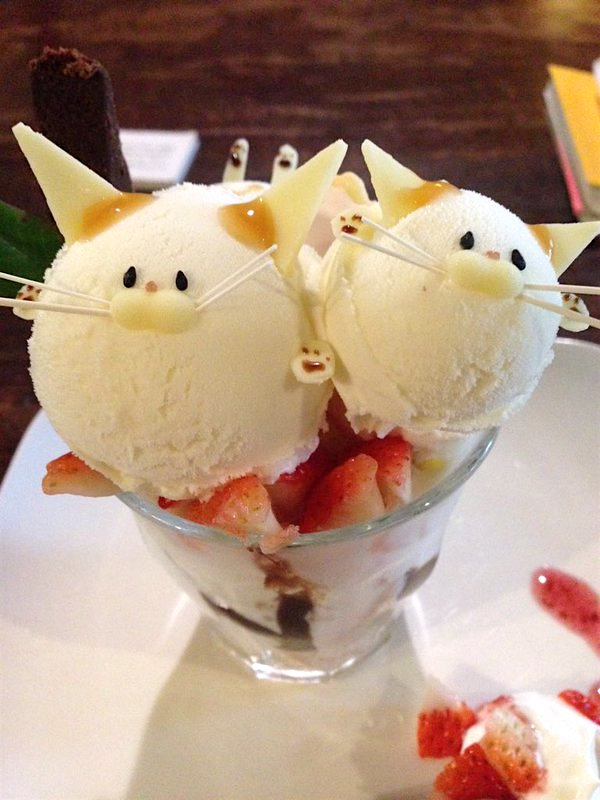these japanese cat parfaits are the cutest treats ever