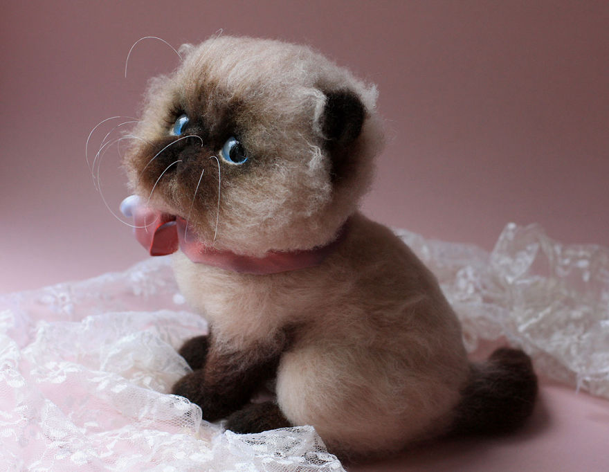 these wool stuffed animals are realistically adorable 13