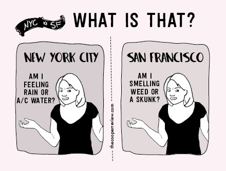 See more New York vs  San Francisco comparisons on The Cooper Review